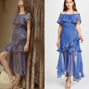 Anthropologie Misa Ambrosia Ruffled Midi Dress